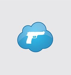 Blue cloud gun icon vector image