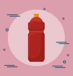Bottles gym wellness lifestyle vector