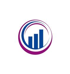 business finance graph abstract circle logo vector image