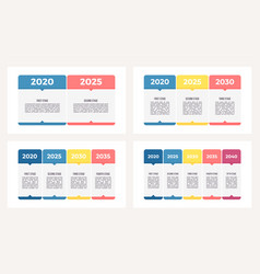 business process chart with 2 3 4 5 steps vector image