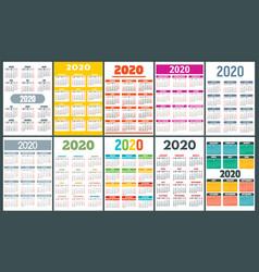calendar banner set flat style vector image