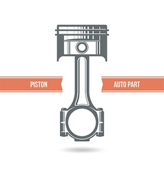 Car engine piston vector