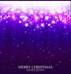 christmas magic background with light and stars vector image