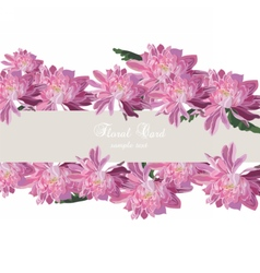 Chrysanthemum flowers card border vector