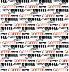Coffee words seamless background vector