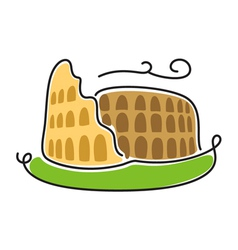 Coliseum icon vector