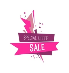 Colorful advertising flashed special sale banner vector image