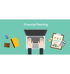 Financial planning vector