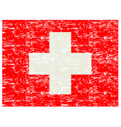 Flag of switzerland brush painted flag of vector
