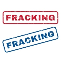 Fracking Rubber Stamps vector
