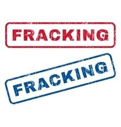Fracking rubber stamps vector