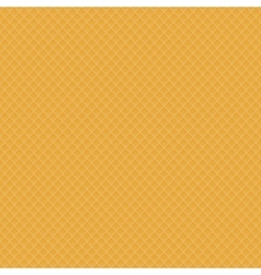 Fresh Baked Orange Waffle Seamless vector image