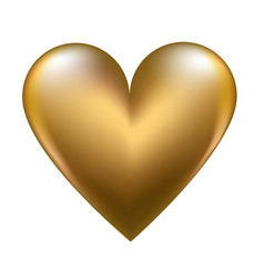 golden shiny heart vector image