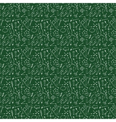 Hand drawn arrows and lines seamless pattern vector