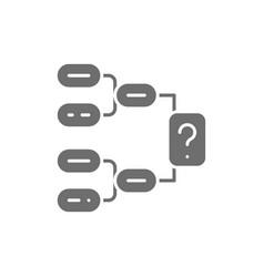 Hockey game scheme tournament brackets tactics vector