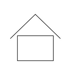 home - icon house line icon vector image