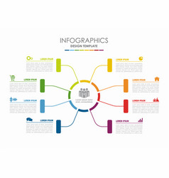 Infographic template can vector