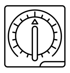 kitchen timer icon outline style vector image
