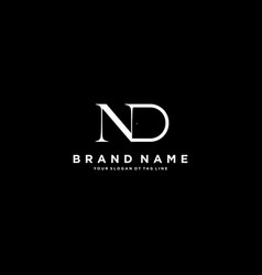 Letter dn logo design vector