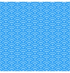 Light blue waves japanese pattern vector