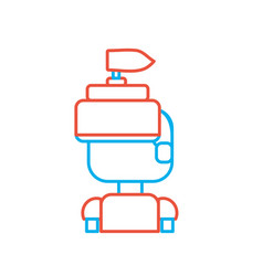 line warrior character to video game technology vector image