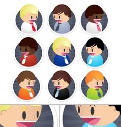 Little Business Men icons set vector image