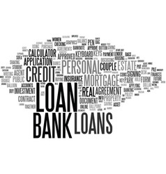 Loans word cloud concept vector