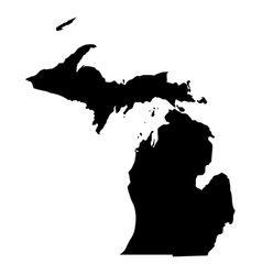Michigan mi state border usa map solid vector