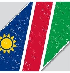 Namibian grunge flag vector image