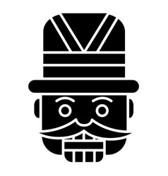 nutcracker - toy soldier icon vector image