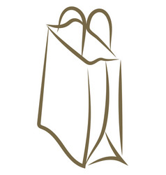 paper bag drawing on white background vector image