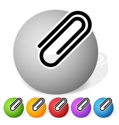 Paper clip clip icon element vector