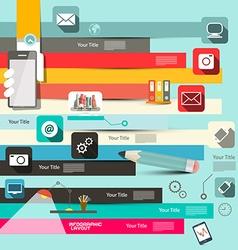 Paper Retro Flat Design Infographic Layo vector image