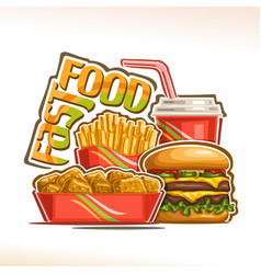 Poster for fast food vector