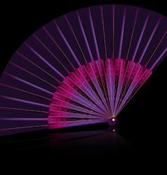 Purple fan vector