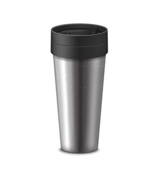 Realistic 3d detailed tumbler thermos cup vector