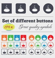 retro purse icon sign Big set of colorful diverse vector image