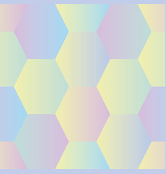 seamless pattern with irridescent hexagons vector image