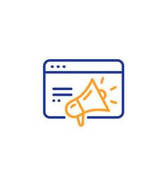 seo marketing line icon web targeting sign vector image