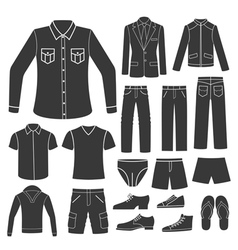 set of men s clothing vector image