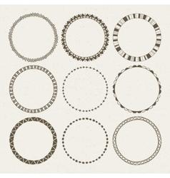 Set of nine different frames vector