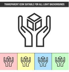 simple outline transparent fragile or handle vector image