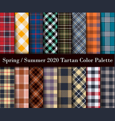 Spring summer 2020 tartan color palette vector