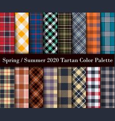 spring summer 2020 tartan color palette vector image
