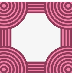 striped frame vector image