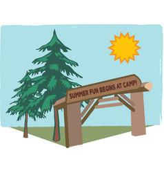 Summer Camp Fun vector