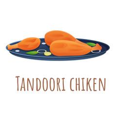Tandoori chiken icon cartoon style vector