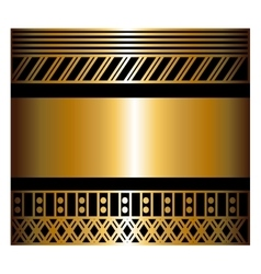 Two-color pattern with art deco frame vector image