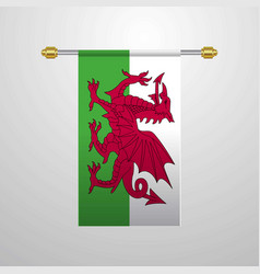 Wales hanging flag vector