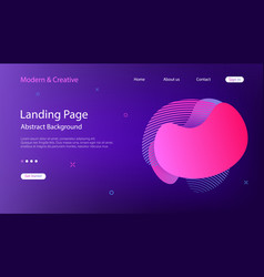 website landing page template abstract background vector image